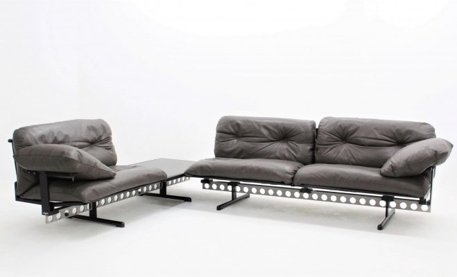 Vintage Ouverture modular sofa by Pierluigi Cerri for Poltrona Frau, 1989