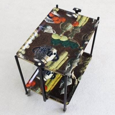 Foldable serving trolley with fifties print by Bremshey Gerlinol, Germany