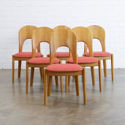 Set of 6 dining chairs by Niels Koefoed for Koefoeds Hornslet, 1960s