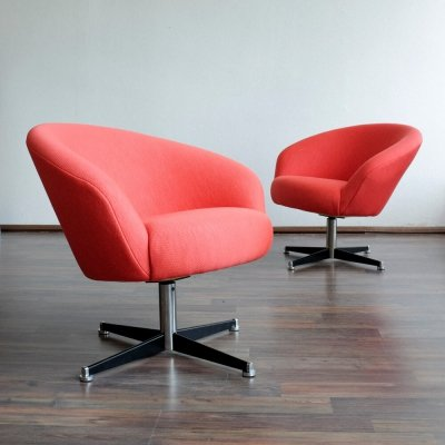 Pair of Sessel Capitol lounge chairs by DeWe Deutsche Werkstätten, 1960s
