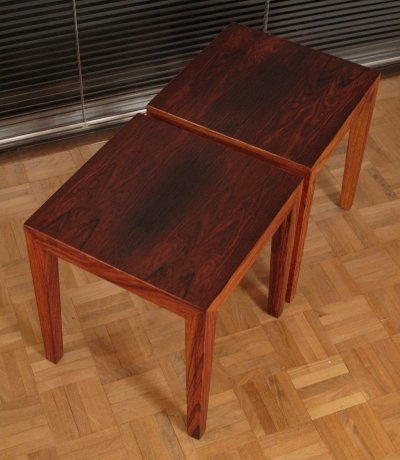 A Pair Of Severin Hansen Rosewood Side Tables