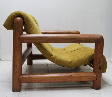 Exotic sling sofa from the seventies