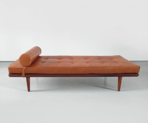Hans Wegner teak daybed Model GE 19 for Getama, Denmark 1956