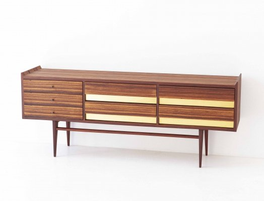 Italian Rosewood & Brass Sideboard with Drawers