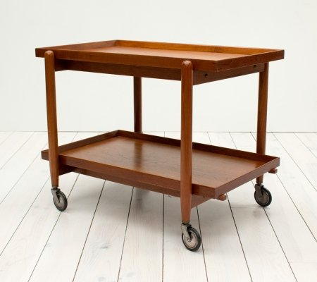 1960s Danish Teak Trolley by Poul Hundevad
