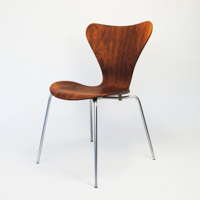 Rosewood 7-series dining chair by Arne Jacobsen for Fritz Hansen, 1960s