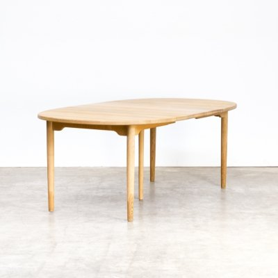 Andreas Hansen extendable oak dining table, 1960s
