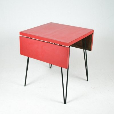 Italian foldable formica table, 1960s