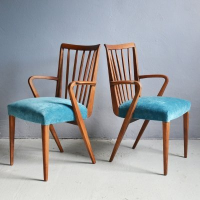 Pair of Poly Z dining chairs by Abraham A. Patijn, 1950's