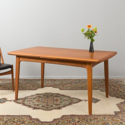 Teak dining table by Svend Aage Madsen for K. Knudsen, Denmark 1960s