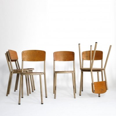 Set of 6 Mobilor dining chairs, 1960s