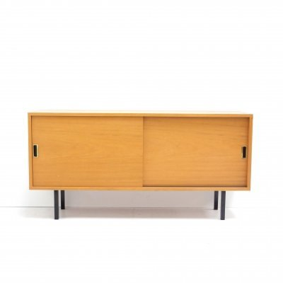 Vintage sideboard with two sliding doors