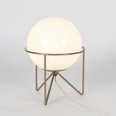 Labeled Tripod Stilnovo Table Lamp, 1950s