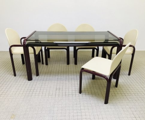 Vintage design 'model 54A' dining set by Gae Aulenti for Knoll, 1969