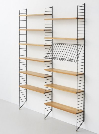 String double bookshelf by Nisse Strinning