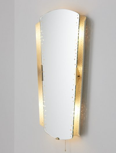Large illuminated mirror by Ernest Igl