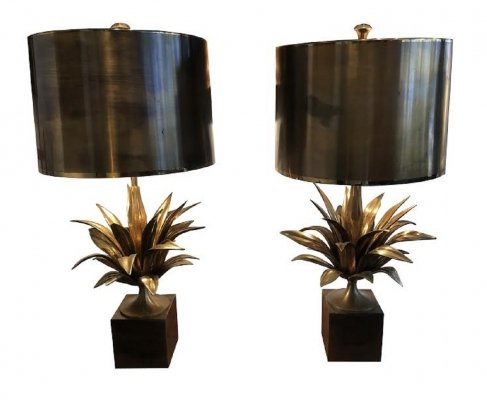 Pair of gilded lights in brass by Maison Charles, France 1960s