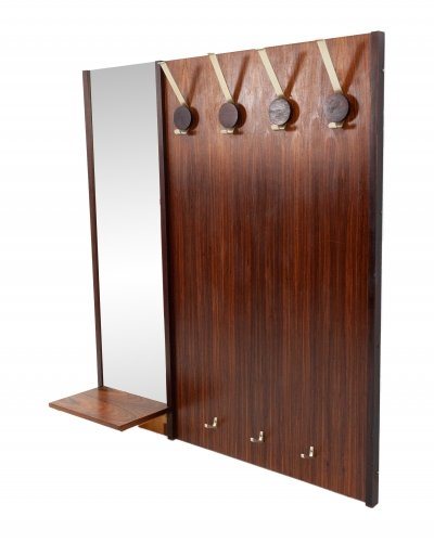 Rosewood hall coatrack with mirror