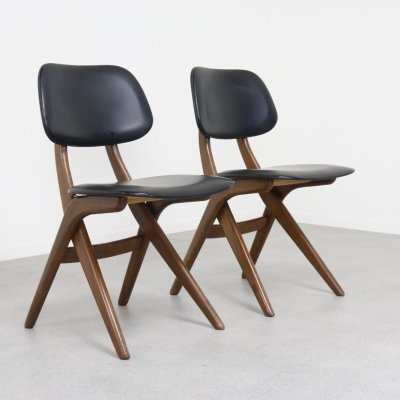 Pair of dining chairs by Louis van Teeffelen for Wébé, 1960s