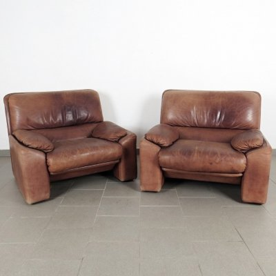 Pair of arm chairs by Arrigo Arrigoni for Busnelli, 1970s