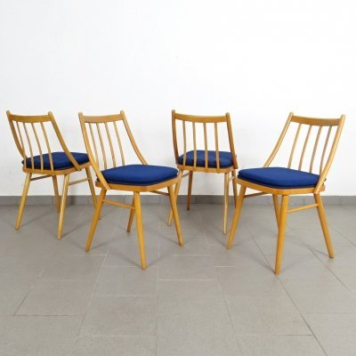 Set of 4 TON dining chairs, 1960s