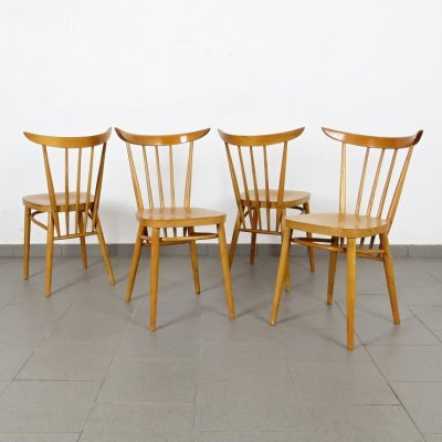 Set of 4 dining chairs by František Jirák for Tatra Nabytok Pravenec, 1960s