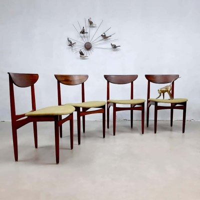 Set of 4 vintage design dining chairs by Kurt Østervig