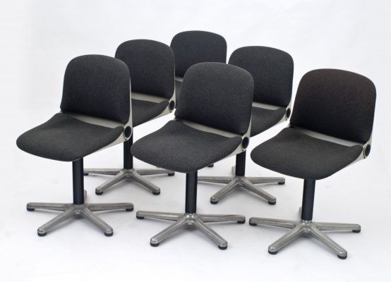 Set of 6 office chairs by Wilhelm Ritz for Wilkhahn, 1970s