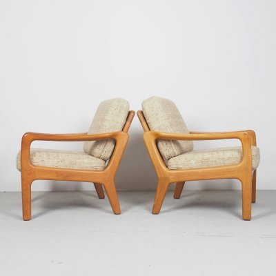 Juul Kristensen teak lounge chairs for Glostrup, 1960's