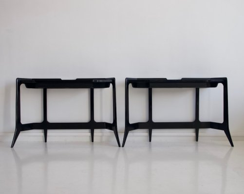 Black Console Table by Luigi Scremin