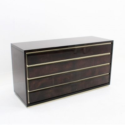 Vintage Italian parchement chest of drawers by Aldo Tura, 1970s