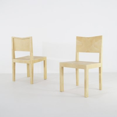 Pair of chairs by Giorgio Tura in Galuchat, 1980