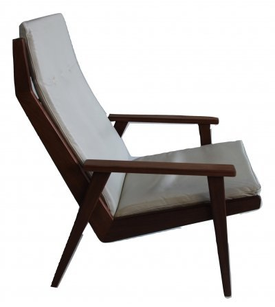 Rob Parry 1611 lounge chair with leather cushion, 1960s