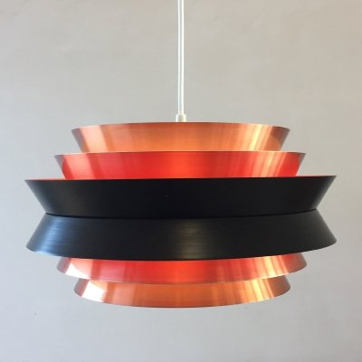 Copper coloured Trava pendant by Carl Thore for Granhaga, 1960s