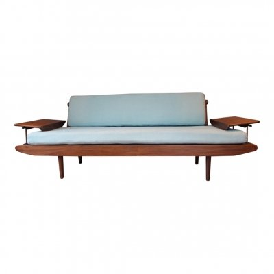 Vintage teak & copper daybed by Toothill, 1960s