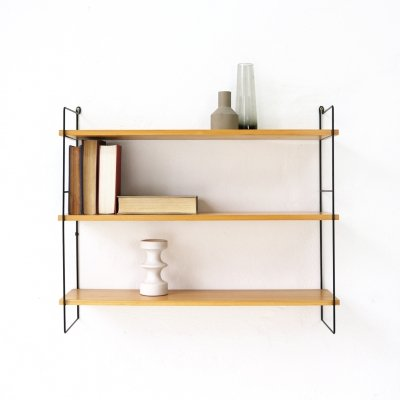 Mid-Century Modern Ashwood Wall Unit With Three Shelves