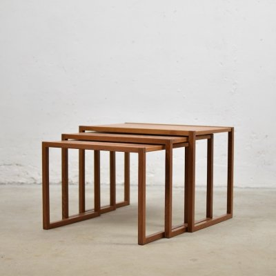 Nesting tables by Kai Kristiansen for Vildbjerg Møbelfabrik, Denmark 1950's