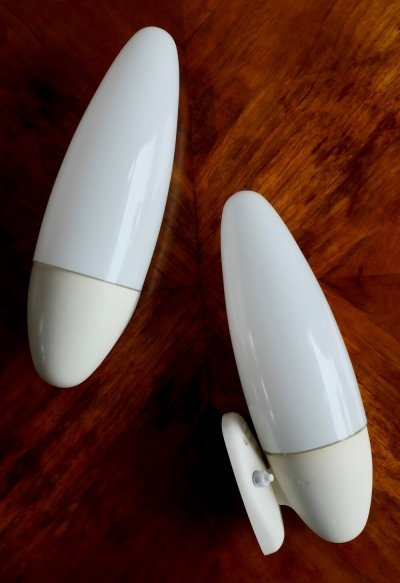 Pair of model 13702 wall lamps by Elektrosvit, 1960s