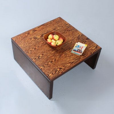 Solid square wenge wood coffee table or bench