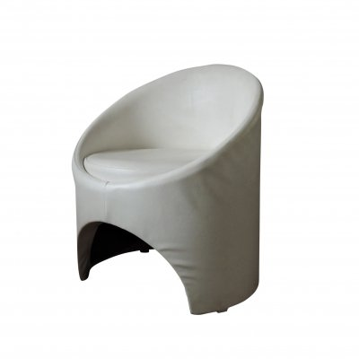 White 'Gogo' Tub Chair by Roger Bennett for Evans High Wycombe