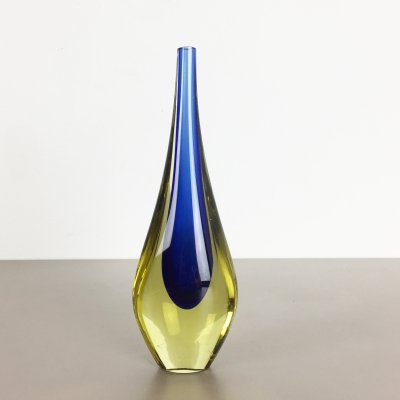 1960s Murano Glass Sommerso Single-Stem Vase by Flavio Poli, Italy