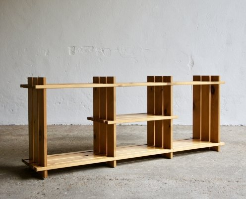 Modernist Pine Shelving Unit, 1970s