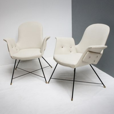 Pair armchairs by Augusto Bozzi for Fratelli Saporiti, Italy