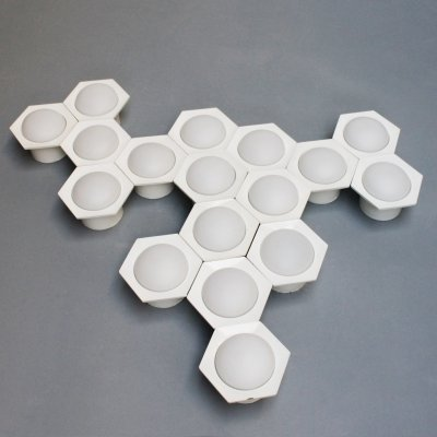 Set of 17 'Hexagon' wall lights by Raak Amsterdam