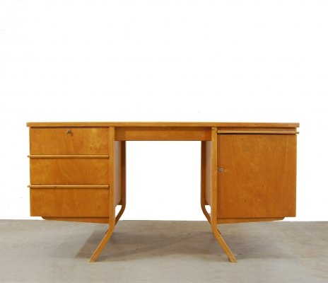 Vintage design EB04 birchseries desk by Cees Braakman for UMS Pastoe, 1950s