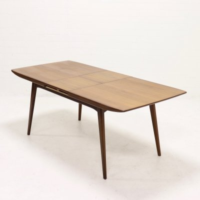 Teak dining table by Louis van Teeffelen for WeBe, 1950s