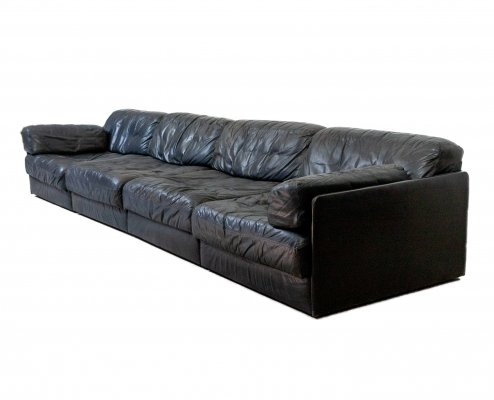 Leather Model DS 76 sofa by De Sede, 1970s