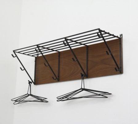 Industrial Dutch design coat rack, 1950s/1960s