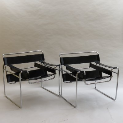 2 x Wassily B3 Chair by Marcel Breuer for Knoll, 1970s