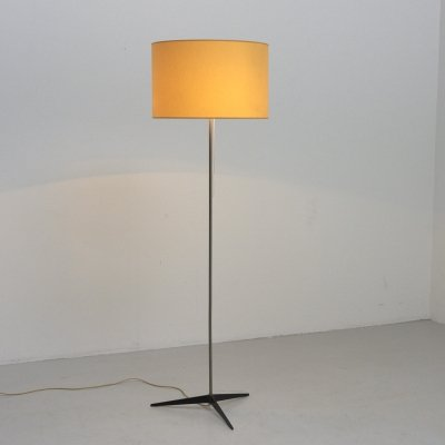 Yellow floor lamp with 3-star foot, 1960s